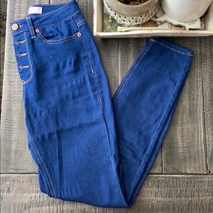 EUC High waisted Cerulean Blue Jeans (worm once)